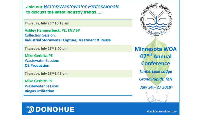 Donohue Presentations at MWOA Annual Conference in Grand Rapids, MN Header Image