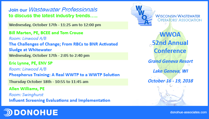 Donohue Presentations at WWOA 52nd Annual Conference Header Image